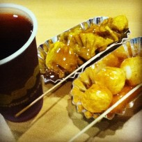 Gulaman, Squid Balls and Fried Dumplings